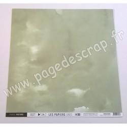 FDPU420005   FLORILEGES DESIGN  LES PAPIERS UNIS 30 VERT TILLEUL 30.5 cm x 30.5 cm