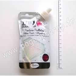 80315   ALADINE IZINK DIAMOND GLITTER PAINT 24 CARATS 80 ml PEARLY