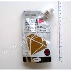 80326   ALADINE IZINK DIAMOND GLITTER PAINT 24 CARATS 80 ml LIGHT GOLD