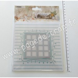 EMBWC08   STUDIO LIGHT WINTER CHARM CUTTING & EMBOSSING FOLDER 150mm x 150mm NR.08