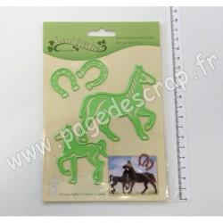 45.6715   LEANE CREATIEF LEA'BILITIE HORSE & FOAL CUT & EMBOSSING DIES