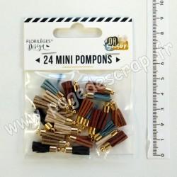 FDMP320001   FLORILEGES DESIGN 24  MINI POMPONS OR SAISON