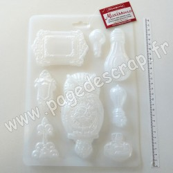 K3PTA486   STAMPERIA SOFT MOULD A4 SIR VAGABOND OWL AND MEMORIES
