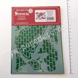 KSD292   STAMPERIA POCHOIR STENCIL WALL GLIMPSE 20 cm x 15 cm
