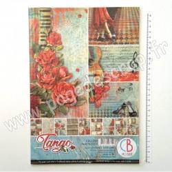 CBCL029   CIAO BELLA TANGO 9 imprimés R/V A4 190g