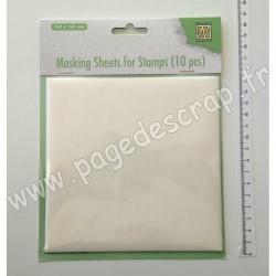 MSFS001   NELLIE'S CHOICE 10 FEUILLES DE MASQUAGE 15cm x 15cm