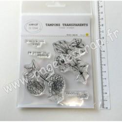 T0321-SA144   COMPTOIR DU SCRAP TAMPONS TRANSPARENTS PRENDRE SON TEMPS