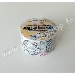 14   AALL AND CREATE MASKING TAPE 14 PASSPORT STAMPS  25mm x 10m