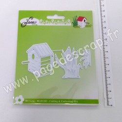 BLD1282   BY LENE CUTTING & EMBOSSING DIES BIRDHOUSE AND GRASS