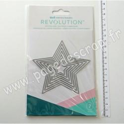 661186   WE R MEMORY KEEPERS REVOLUTION NESTING DIES STAR