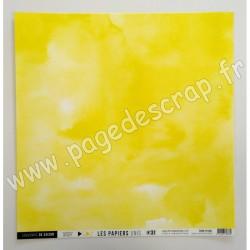 FDPU121001   FLORILEGES DESIGN  LES PAPIERS UNIS 31 JAUNE CITRON 30.5 cm x 30.5 cm