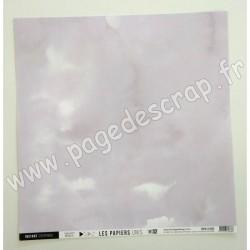 FDPU121002   FLORILEGES DESIGN  LES PAPIERS UNIS 32 MAUVE DE PERSE 30.5 cm x 30.5 cm
