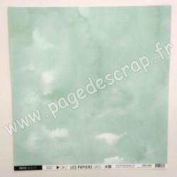 FDPU121003   FLORILEGES DESIGN  LES PAPIERS UNIS 33 VERT OPALINE 30.5 cm x 30.5 cm