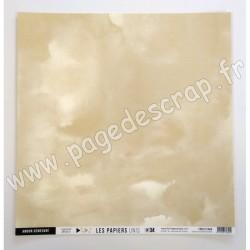 FDPU121004   FLORILEGES DESIGN  LES PAPIERS UNIS 34 BEIGE BLOND 30.5 cm x 30.5 cm