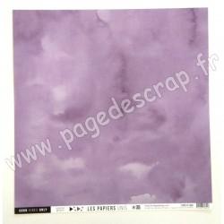 FDPU121005   FLORILEGES DESIGN  LES PAPIERS UNIS 35 VIOLET DE GIVERNY 30.5 cm x 30.5 cm