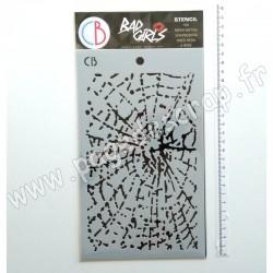 MSB021   CIAO BELLA BAD GIRLS TEXTURE STENCIL SPIDER NET