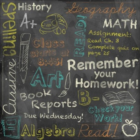 CHALKBOARD COLLAGE