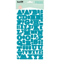 ALPHABET PRESS TURQUOISE