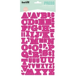 ALPHABET PRESS FUSCHIA