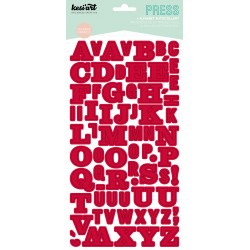 ALPHABET PRESS ROUGE