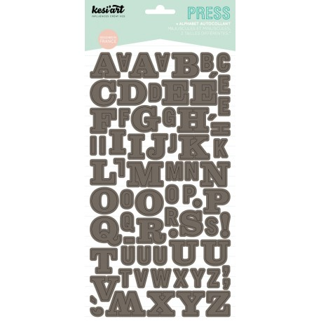 ALPHABET PRESS TAUPE