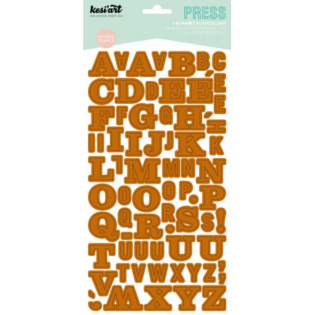 ALPHABET PRESS CAMEL
