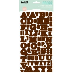 ALPHABET PRESS MARRON
