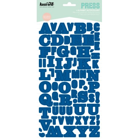 ALPHABET PRESS BLEU ELECTRIQUE