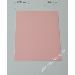CARTE A6 ROSE LAYETTE