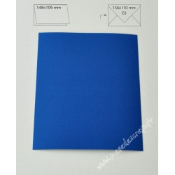 CARTE A6 BLEU ROYAL