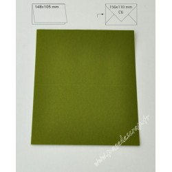 CARTE A6 OLIVE