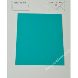 CARTE B6 TURQUOISE