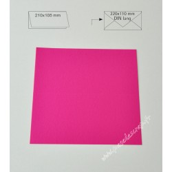 CARTE DIN ROSE OEILLET