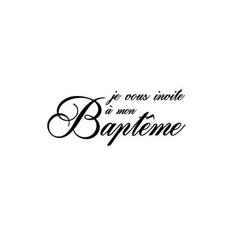 TB JE VOUS INVITE A MON BAPTEME