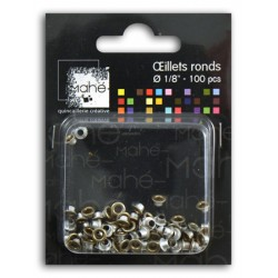 OEILLETS 1/8 100PCS OR