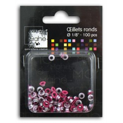 OEILLETS 1/8 100PCS FUSCHIA