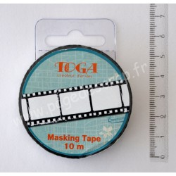 MASKING TAPE NEGATIF PHOTO 1.5cm x 10m