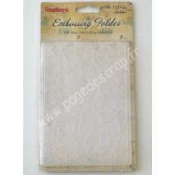 SCRAPBERRY'S EMBOSSING FOLDER SCROLLWORK 10.6 cm x 15 cm