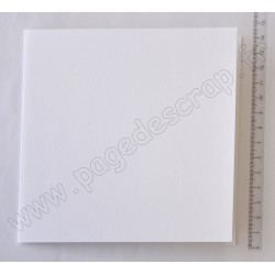 CARTE CARREE 135 mm x 135 mm BLANCHE