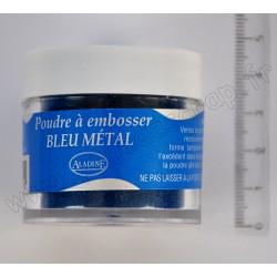 ALADINE POUDRE A EMBOSSER 30 ml BLEU METAL