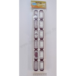 ALADINE STAMPO MAXI 5 cm x 30 cm MULTI TICKETS