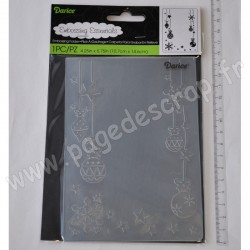 DARICE EMBOSSING TEMPLATE ORNAMENTS HUNG 10,8 cm x 14.6 cm