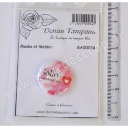 DENIM TAMPONS BADGE JOLIE COMME UN COEUR