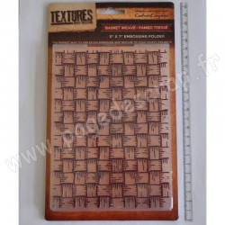 CRAFTER'S COMPANION EMBOSSING FOLDER TEXTURES BASKET WEAVE