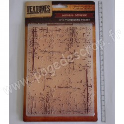 CRAFTER'S COMPANION EMBOSSING FOLDER TEXTURES DISTRESS