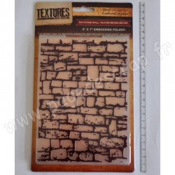 CRAFTER'S COMPANION EMBOSSING FOLDER TEXTURES DRY STONE WALL