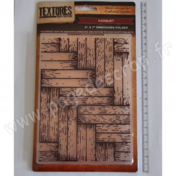 CRAFTER'S COMPANION EMBOSSING FOLDER TEXTURES PARQUET