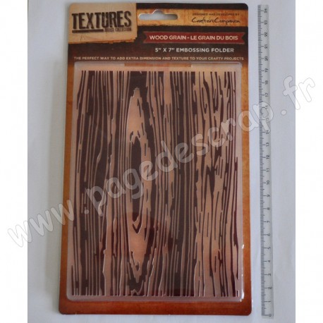 CRAFTER'S COMPANION EMBOSSING FOLDER TEXTURES WOOD GRAIN