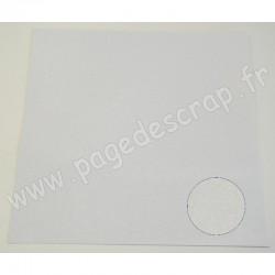 PAPIER PAILLETTES BLANC  30,5 cm x 30,5 cm
