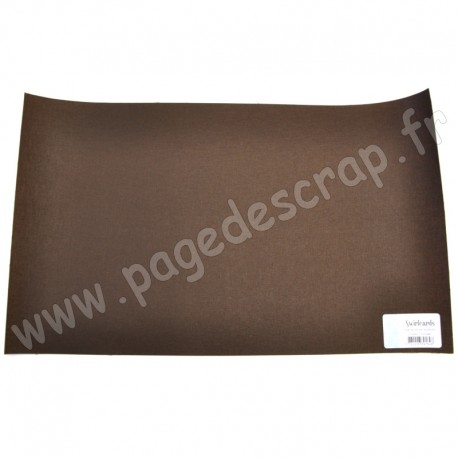 SWIRLCARDS TOILE DE RELIURE CHOCOLAT 30 cm x 50 cm